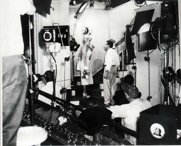 On set of The Seven Year Itch, 1954.