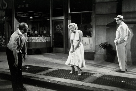 Wilder, Monroe, and Ewell on the set of The Seven Year Itch. New York City, 1954.